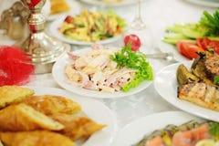 Salada com verde Imagens de Stock
