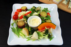 Salada cozinhada dos vegetais Imagens de Stock Royalty Free