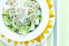 Salada crocante da semente de Apple e de girassol Foto de Stock