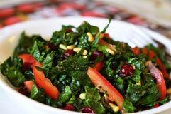Salada crua do Kale Fotografia de Stock