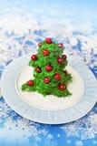 Salada da árvore de Natal Imagem de Stock Royalty Free