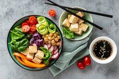 Salada da bacia da Buda imagem de stock