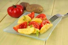 Salada da batata e do tomate Fotos de Stock Royalty Free