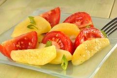 Salada da batata e do tomate imagens de stock