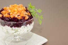 Salada da beterraba com peppe do sino Fotos de Stock Royalty Free
