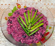 Salada da beterraba vermelha Foto de Stock