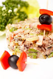 Salada da carne Fotografia de Stock Royalty Free