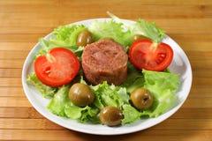 Salada da carne Fotos de Stock