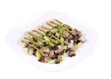 Salada da carne com aspargo. Fotografia de Stock Royalty Free