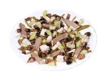 Salada da carne com aspargo e aipo. Fotografia de Stock
