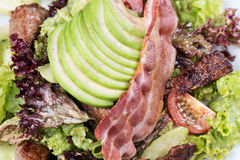 Salada da carne com close up da alface Imagens de Stock