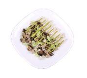 Salada da carne com cogumelos Imagens de Stock