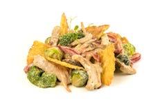 Salada da carne com microplaquetas Fotografia de Stock Royalty Free
