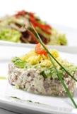 Salada da carne com vegetal fotos de stock