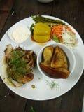 Salada da carne da batata Imagens de Stock Royalty Free