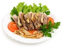Salada da carne do prato da carne Foto de Stock