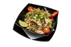 Salada da carne e dos vegetais da galinha Foto de Stock