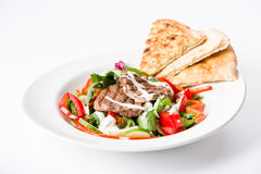 Salada da carne e vegetarianos crocantes Fotos de Stock