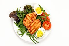 Salada da carne da galinha foto de stock