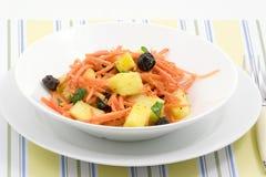 Salada da cenoura do abacaxi Imagem de Stock Royalty Free