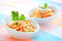 Salada da couve-rábano e da cenoura fotos de stock