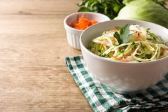 Salada da salada de repolho imagens de stock