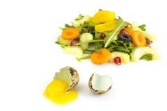 Salada da dieta do vegetariano com aipo e rúcula Imagem de Stock