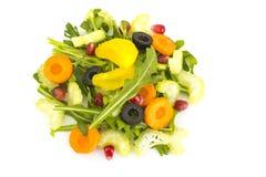 Salada da dieta do vegetariano com aipo e rúcula Imagens de Stock Royalty Free