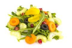 Salada da dieta do vegetariano com aipo e rúcula Imagem de Stock Royalty Free