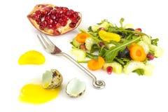 Salada da dieta do vegetariano com aipo e rúcula Fotografia de Stock Royalty Free