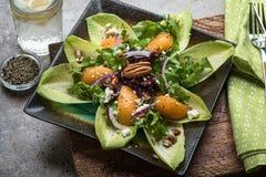 Salada da endívia e do pêssego Imagens de Stock Royalty Free