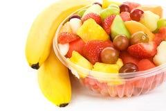 Salada da fruta com bananas imagens de stock royalty free