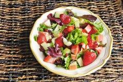 Salada da fruta de Apple da morango Imagem de Stock