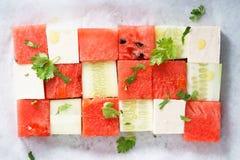 Salada da melancia Fotografia de Stock