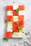 Salada da melancia Imagens de Stock Royalty Free