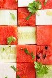 Salada da melancia Imagens de Stock