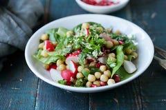 Salada da mola com grão-de-bico Fotografia de Stock Royalty Free