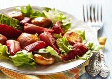 Salada da morango Fotografia de Stock Royalty Free