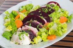 Salada da mussarela e das beterrabas Fotos de Stock Royalty Free