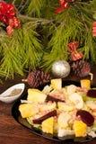 Salada da Noite de Natal Imagem de Stock Royalty Free