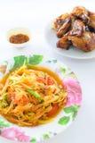 Salada da papaia Imagens de Stock