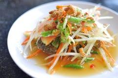 Salada da papaia Fotografia de Stock