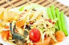 Salada da papaia Foto de Stock
