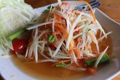 Salada da papaia com caranguejo Fotografia de Stock
