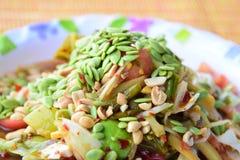 Salada da papaia com semente verde Foto de Stock