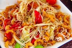Salada da papaia ou tum do som Imagem de Stock Royalty Free