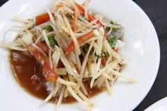 Salada da papaia, Somtum Imagem de Stock