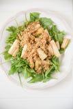 Salada da rúcula com aspargo imagem de stock