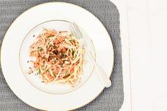 Salada da raiz ou o rabanete de aipo, a cenoura e o iogurte natural Imagens de Stock Royalty Free