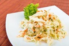 Salada da salada de repolho fotografia de stock